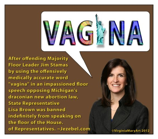 2012_State Rep Lisa Brown vagina speech ban